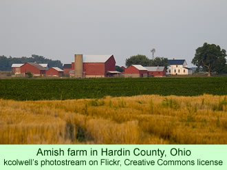 Amish farm in Hardin County, Ohio